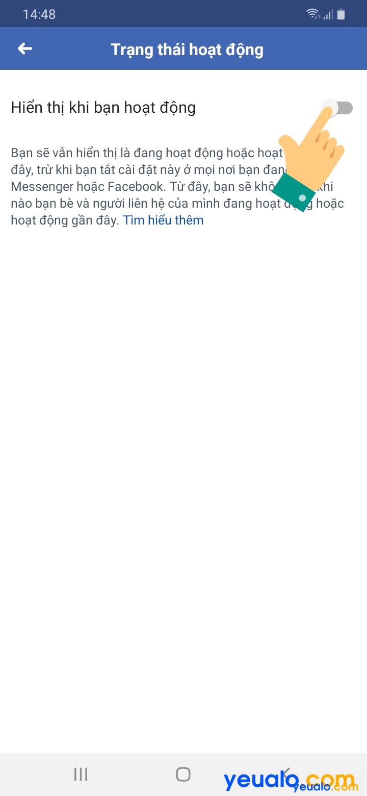 Cách tắt đèn Facebook trên điện thoại 4