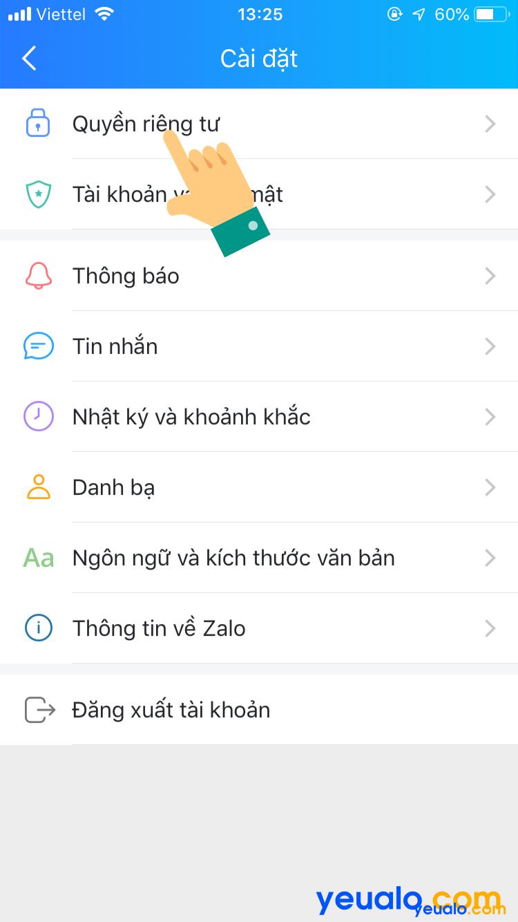 Cách tắt đồng bộ cuộc gọi Zalo trên iPhone 3