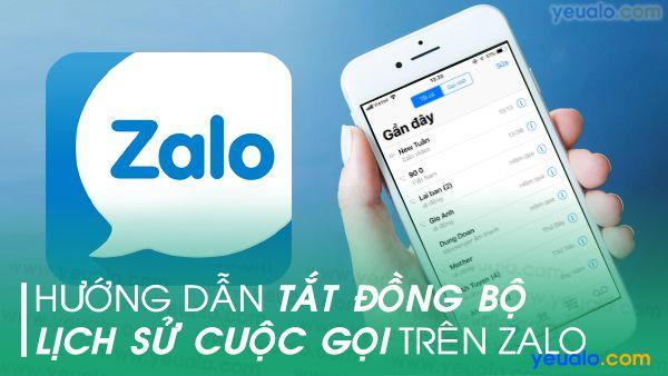 Cách tắt đồng bộ cuộc gọi trên Zalo