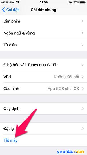 Cách tắt iPhone không cần dùng phím nguồn 3