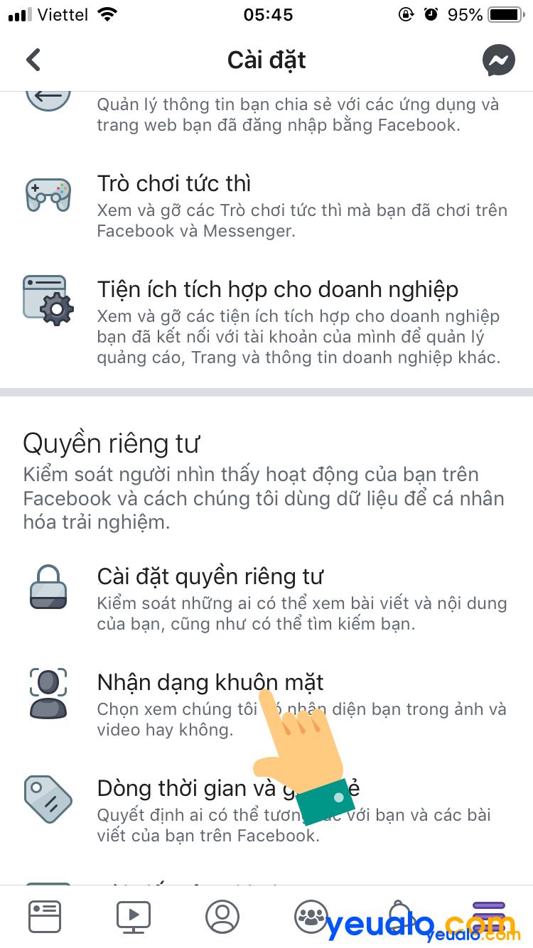 Cách tắt nhận dạng khuôn mặt trên Facebook 3