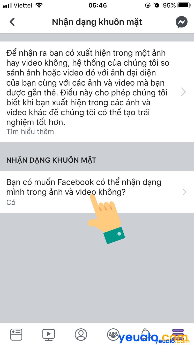 Cách tắt nhận dạng khuôn mặt trên Facebook bằng điện thoại 4