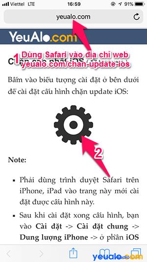 Chặn thông báo cập nhật iOS 2