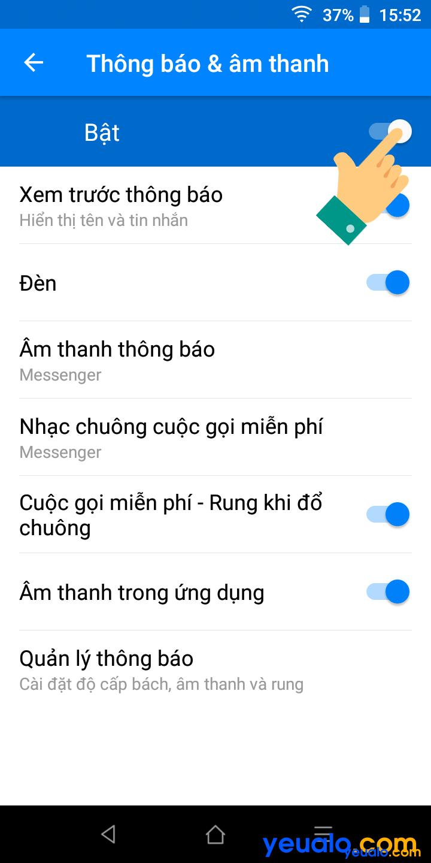 Cách tắt thông báo Messenger 4