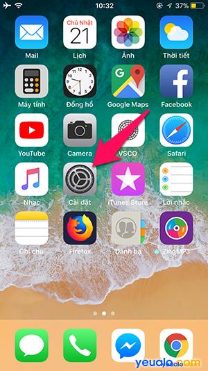 Cách thay đổi cỡ chữ trên iPhone 1