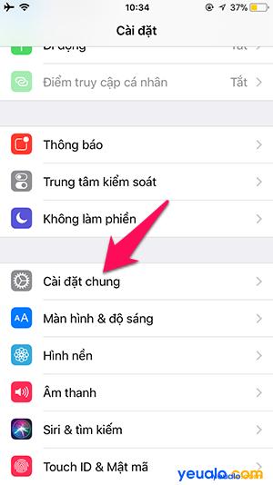 Cách thay đổi cỡ chữ trên iPhone 2