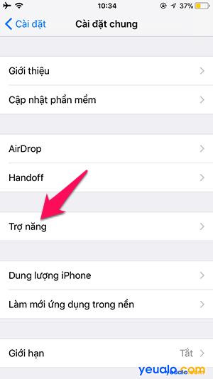 Cách thay đổi cỡ chữ trên iPhone 3