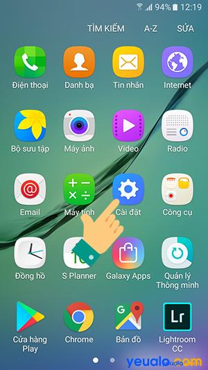 Cách cài đặt cỡ chữ cho Samsung Galaxy