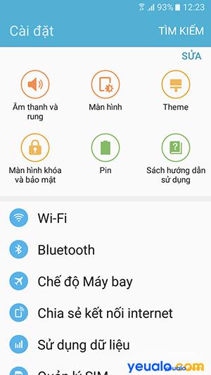 Cách thay đổi kích thước chữ cho Samsung Galaxy 6