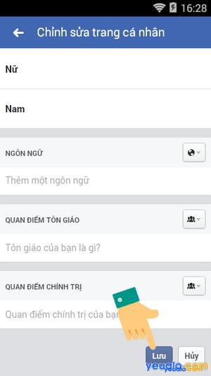 Cách thay đổi giới tính trên Facebook bằng điện thoại 6