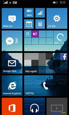 Cách thay đổi hình nền màn hình bắt đầu cho điện thoại Lumia 6