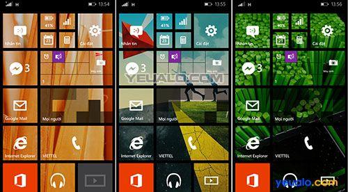 Cách thay đổi hình nền cho điện thoại Lumia 430, 435, 520, 525, 640, 640 XL, 730…