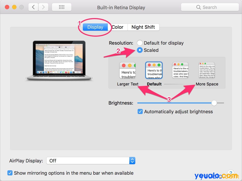 Cách tăng kích thước cỡ chữ trên Macbook 3