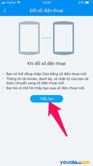 Cách thay đổi số điện thoại Zalo 4
