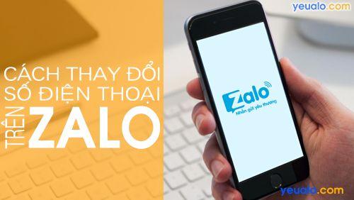Cách thay đổi số điện thoại cũ thành số điện thoại mới trên Zalo