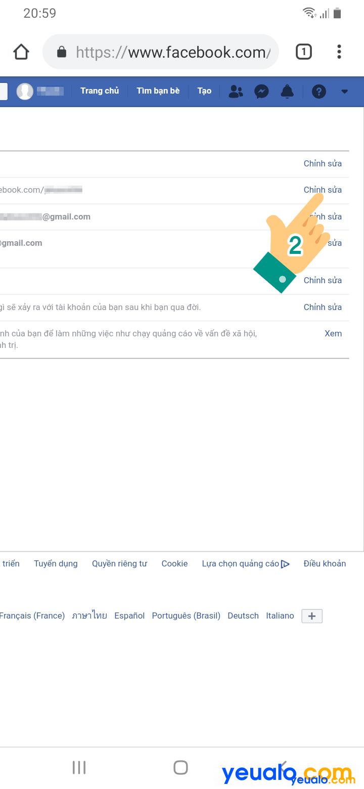 Cách thay đổi tên đăng nhập, id Facebook bằng điện thoại 3