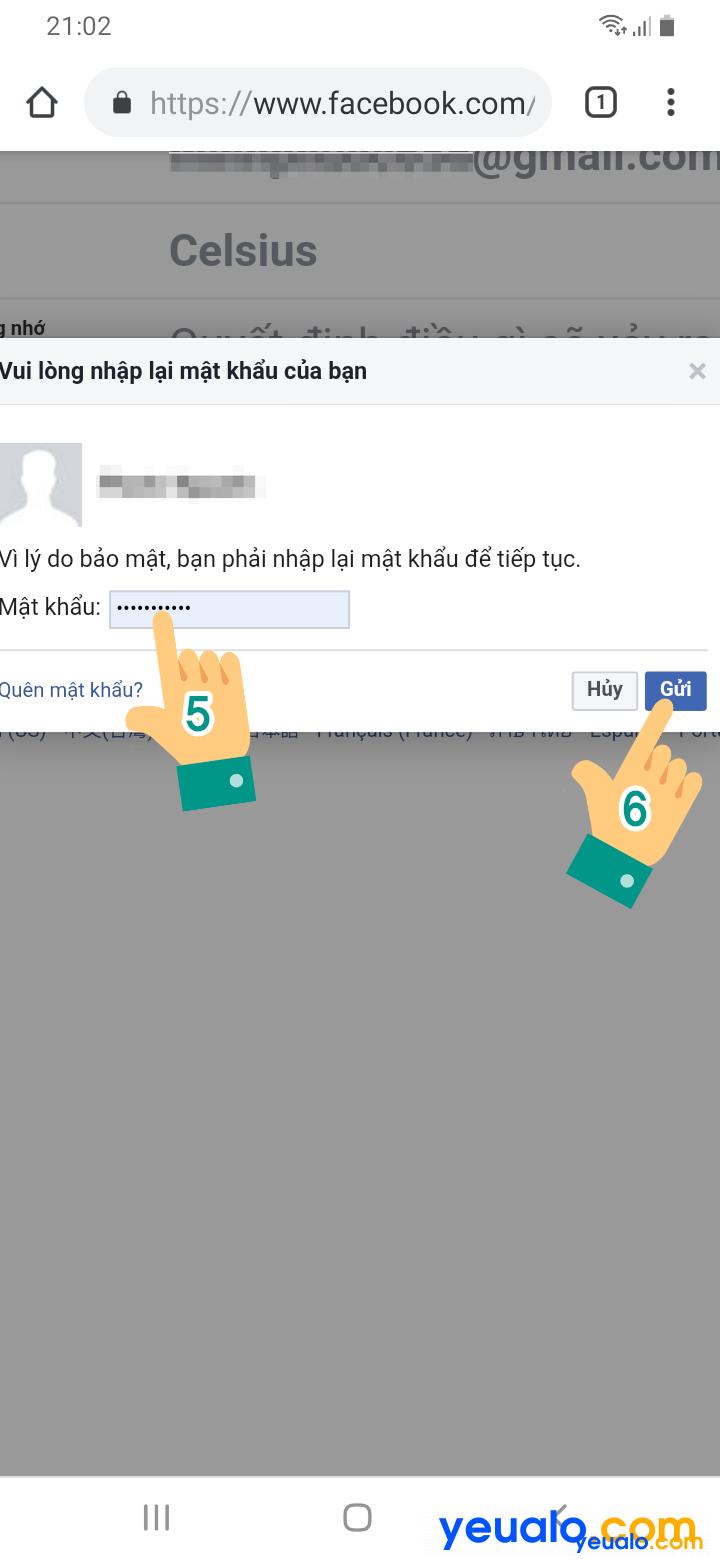Cách thay đổi tên đăng nhập, id Facebook bằng điện thoại 5
