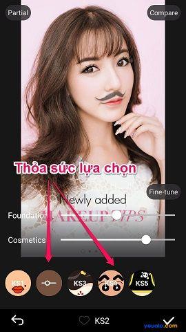 """Hướng dẫn gắn râu vào ảnh bằng phần mềm Makeup Plus theo trào lưu """"Soái Ca"""" width="""