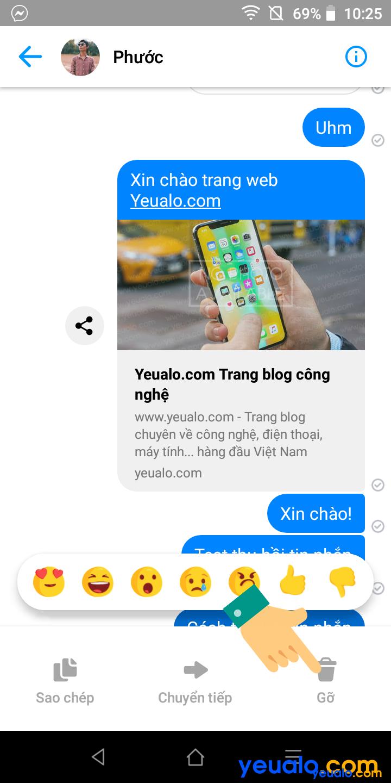 Cách thu hồi tin nhắn đã gửi trên Messenger 2