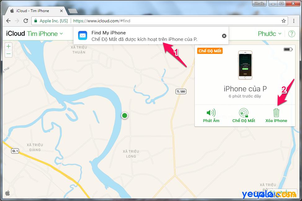Cách Tìm iPhone bị mất 7