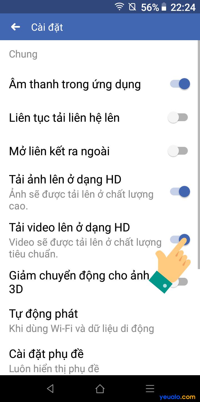 Cách up video HD lên Facebook 5