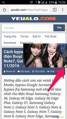 Cách vừa xem Youtube vừa lướt web, đọc báo, lướt Facebook trên điện thoại 3