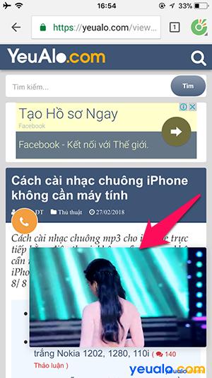 Cách xem Youtube vừa vào Facebook lướt Web trên iPhone 4