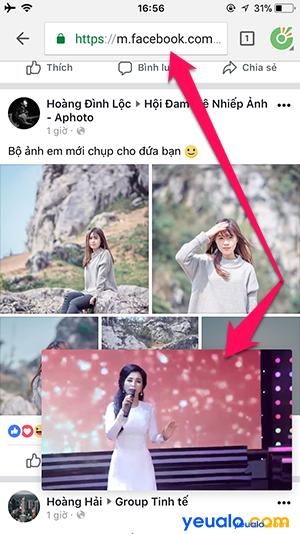 Cách xem Youtube vừa vào Facebook lướt Web trên iPhone 6