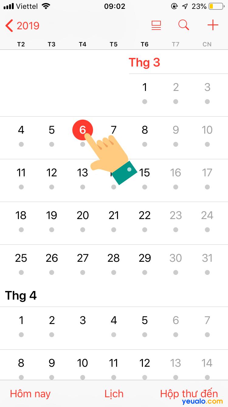 Cách xem lịch âm trên iPhone 2
