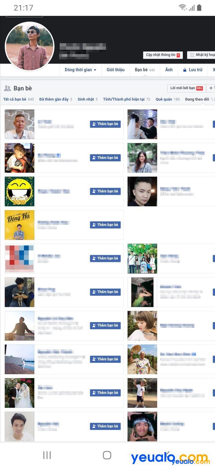 Cách xem mình đang theo dõi ai trên Facebook trên điện thoại Android, iPhone…