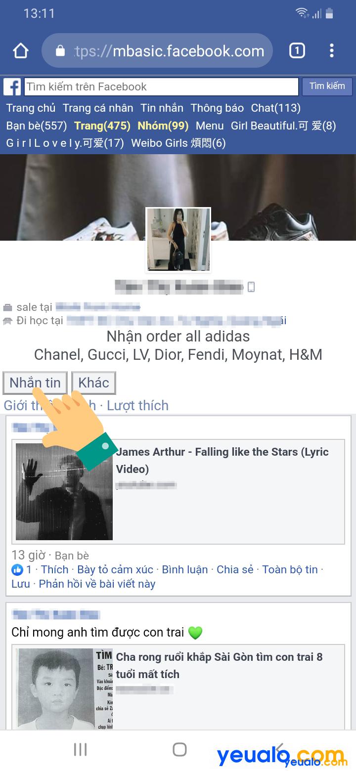 Cách xem người khác có online Facebook hay không 2