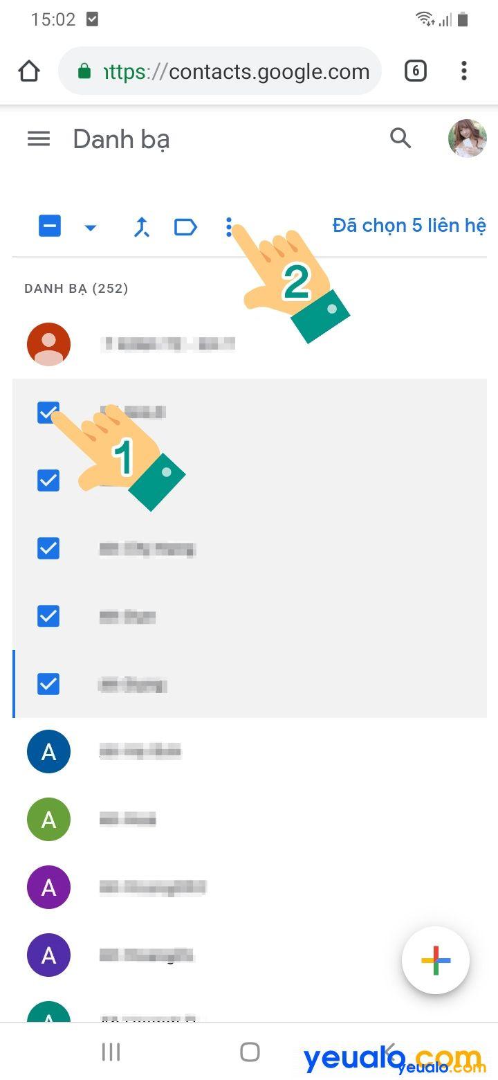 Cách xóa danh bạ đồng bộ trên Gmail 3