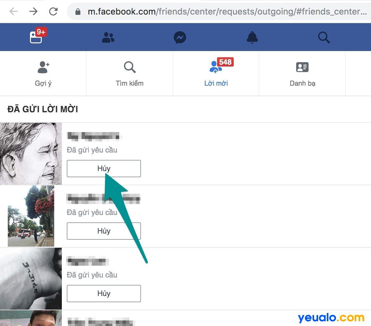 Cách xóa lời mời kết bạn đã gửi hàng loạt trên Facebook điện thoại và máy tính