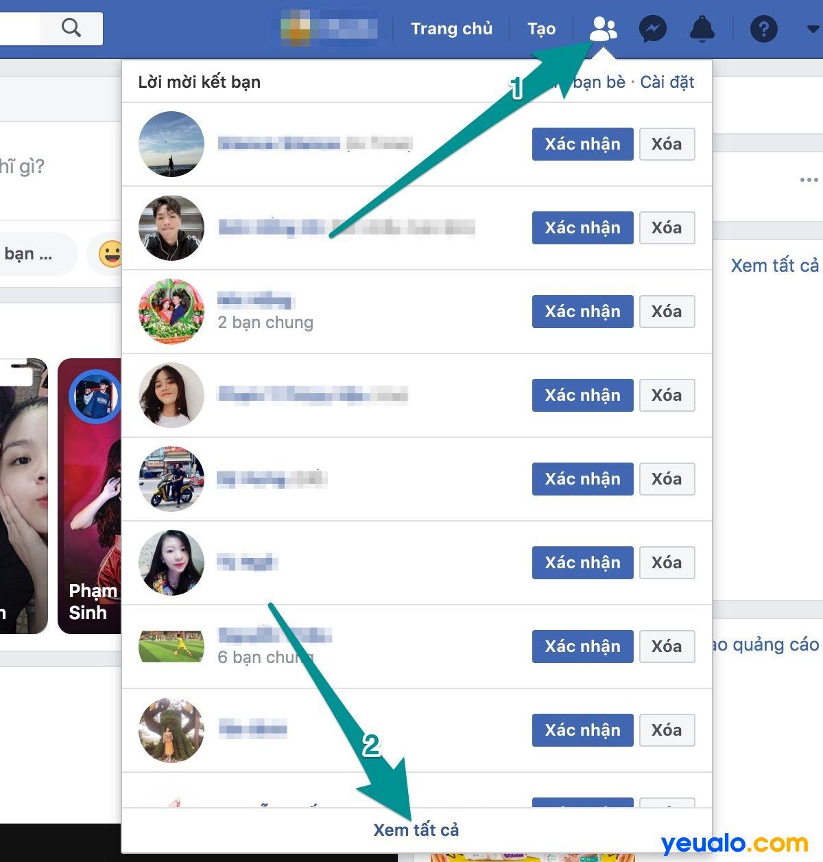 Cách xóa lời mời kết bạn đã gửi hàng loạt trên Facebook máy tính