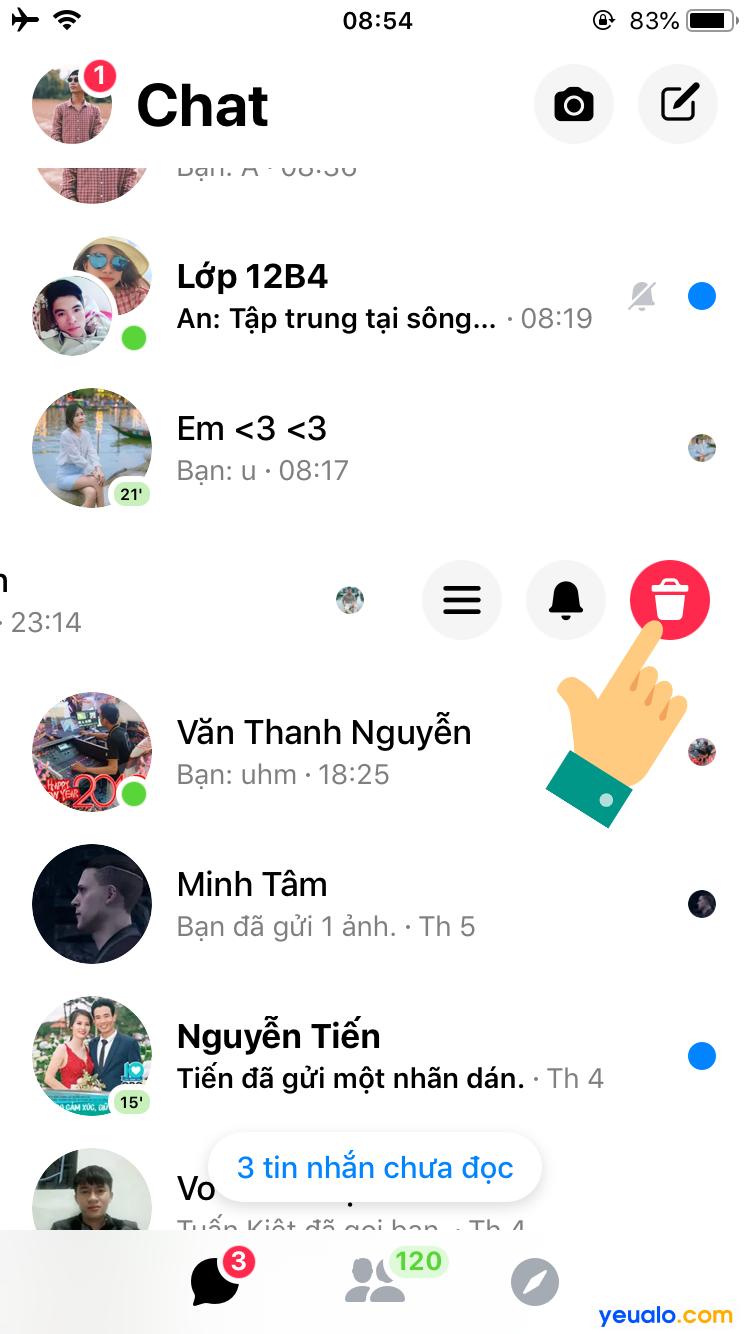 Cách xoá nhiều tin nhắn trên Messenger 2