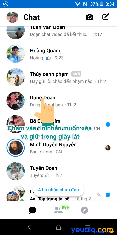 Cách xoá nhiều tin nhắn Messenger trên điện thoại 2