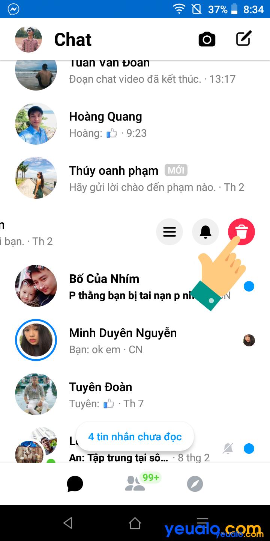 Cách xoá nhiều tin nhắn Messenger trên điện thoại 3