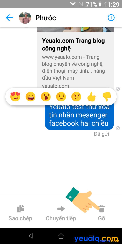 Cách xóa tin nhắn Messenger cả hai bên 2