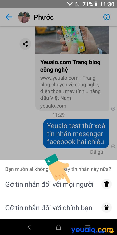 Cách xóa tin nhắn Messenger cả hai bên 3