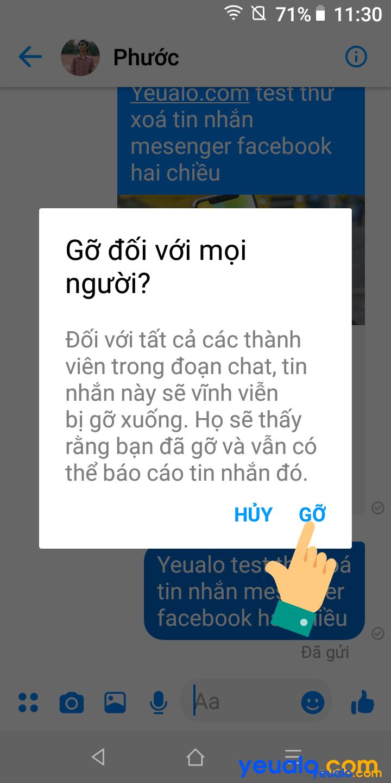Cách xóa tin nhắn Messenger cả hai bên 4