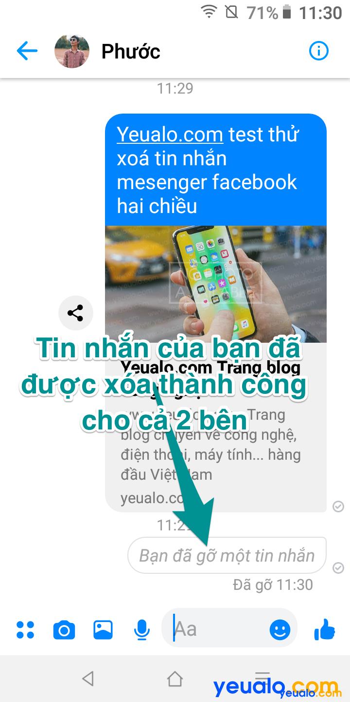 Cách xóa tin nhắn Messenger cả hai bên 5