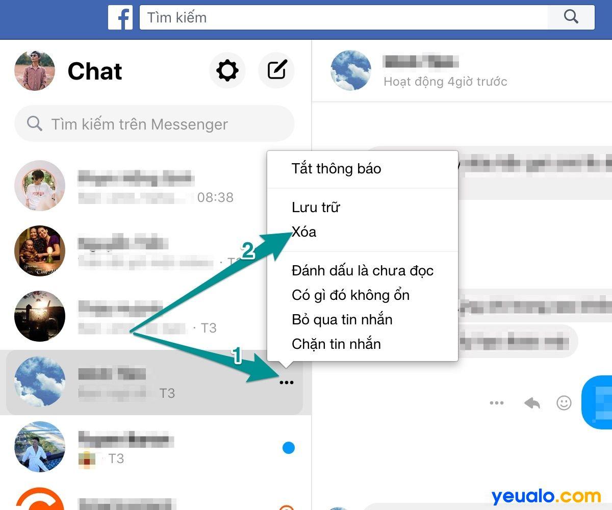 Cách xóa toàn bộ tin nhắn trên Messenger trên máy tính