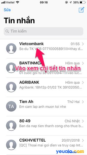 nhắn SMS trên iPhone Cách 2 1