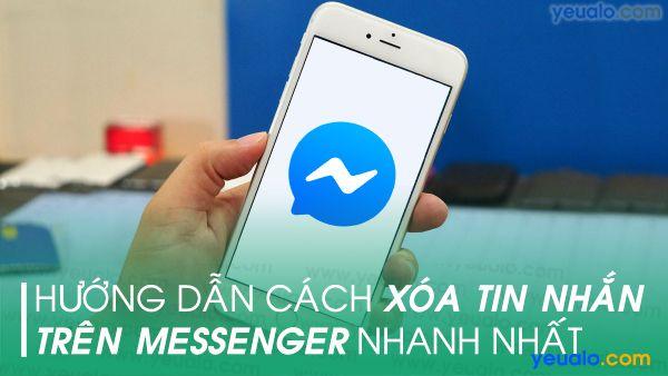 Cách xoá nhiều tin nhắn Messenger trên điện thoại