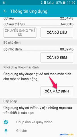 Cách xóa ứng dụng mặc định trên điện thoại Samsung Galaxy 7