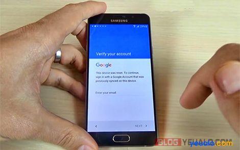 Cách xóa xác minh tài khoản Google các máy Samsung Galaxy 2016 1