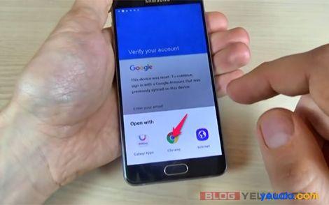 Cách xóa xác minh tài khoản Google các máy Samsung Galaxy 2016 3