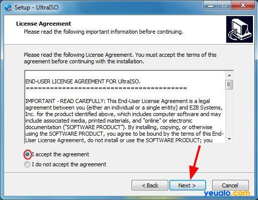 Cài đặt phần mềm UltraISO để tạo Hiren Boot lên usb 2