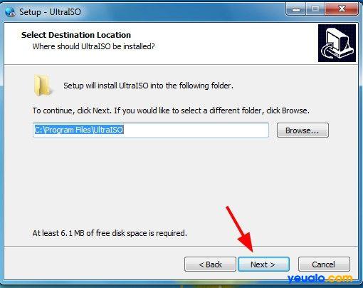 Cài đặt phần mềm UltraISO để tạo Hiren Boot lên usb 3