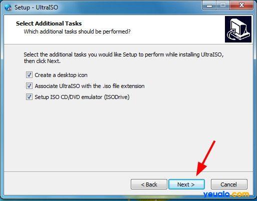 Cài đặt phần mềm UltraISO để tạo Hiren Boot lên usb 5